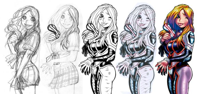 EMPOWERED 8's Mindf**k back-cover process montage by AdamWarren