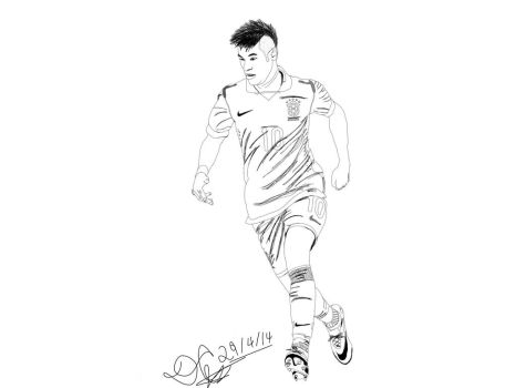 NEYMAR Rough sketch... by DaipayaanC