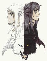 +Winged wolves+ by DarkDemonWolf