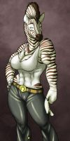 Unnamed Zebra Girl by RickGriffin