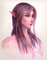 Elf Sketch by HighRisk