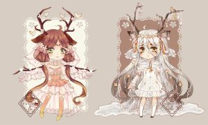 Spring and Winter Deer [ADOPTABLE CLOSED] by Eternal-S