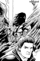Angel 22 Cover inks by GabrielRodriguez