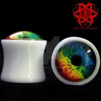 Multi Color Eye Plugs by piercedeyedesign