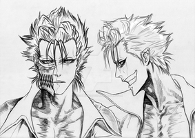 Grimmjow Hair Practice by PeachBerryDivision