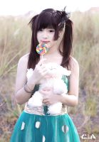 Cute With Lollipop by CupuBanget