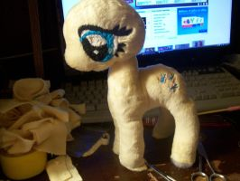 Fluttershy plush, wip. by PollyRockets