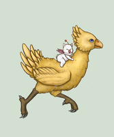 Chocobo n Moogle by MythicPhoenix