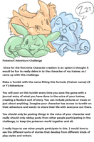 Pokemon X and Y adventure challenge by sanr4