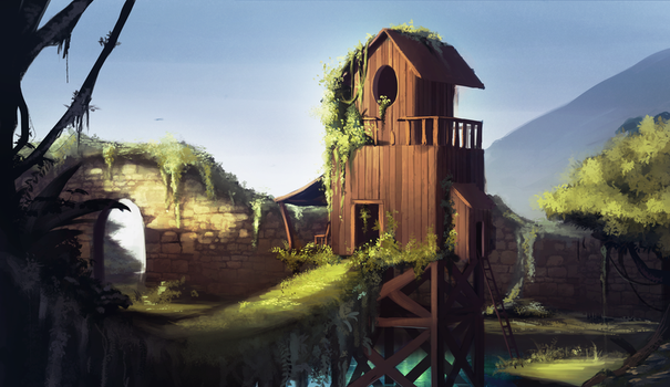 Tree house by Kamirah
