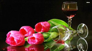 Pink-tulips-and-red-wine by cheyanne-mia2
