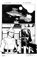 Star Wars  Pg 1 Inks by Hodges-Art