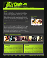 Artistic Core Web Template by Fr1ction