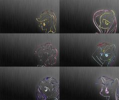 Ponies of Steel Wallpaper Pack by Xenovile