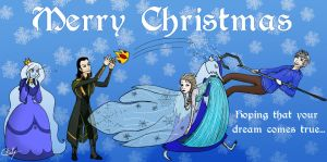 Merry Christmas with Winter Team by Chouly-only