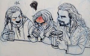 Thorin, Young Fili and Kili by soodal