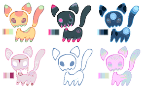 Skull kitties adopt batch -CLOSED- by Elevera