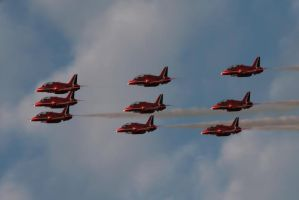 Red Arrows by Tangent101