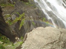 Rainbow on the waterfall by Dyda81