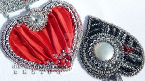 Hearts by SilverLineBeads