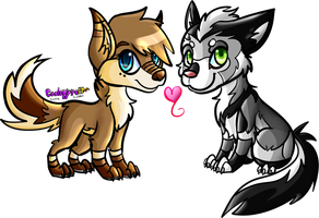 Commission - Chibi Chex and Tsume by Skoryx