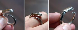 wounded chestburster ring by SaturnDays
