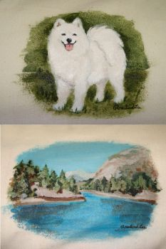Samoyed on Mini Chuckwagon .2 by Rosalind
