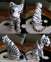 Wedding Topper White Tiger by WildSpiritWolf