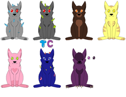 6 Worlds Adoptables by Toxiccreepypasta