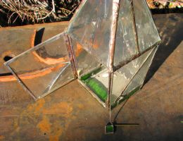 Stained glass candle lantern II by SkyfireDragon