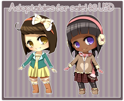 Adoptables: Cutesy girls 1 CLOSED by MzzAzn