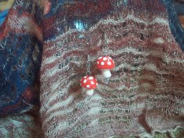Magic Mushroom Earrings by ChrisOnly