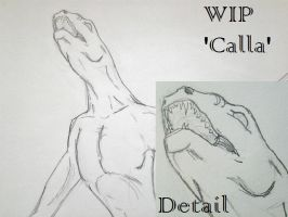 :WIP: Calla-Sea Demon Form by IntriguingBeast