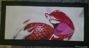 Red lips finished by FATRATKING