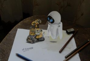 WALL.E  3D drawing by mathio91