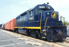 B and O GP-40 with Short Freight by rlkitterman