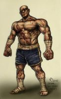 sagat colored by nickybeats