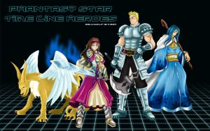 Phantasy Star 1 - Heros by seijiwolf