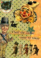 My Wife's Circus Cats ATC 1 by OllieP