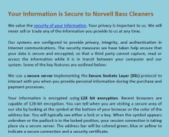 Your Information is Secure to Norvell Bass Cleaner by kareimisterwood
