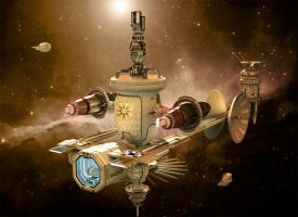 Communications space station. by jedgraph