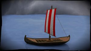 Viking longship by woyoooo