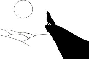 RQ Howling wolf - Line Art by Cody2897