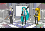 Miku, Neru, And Haku MMD by Boom-Go-The-Domo