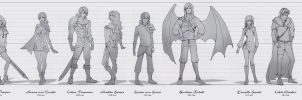 Chaos Edge - character concepts - UPDATED by Aomori