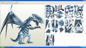 Blue eyes White dragon Paper by MichelCFK
