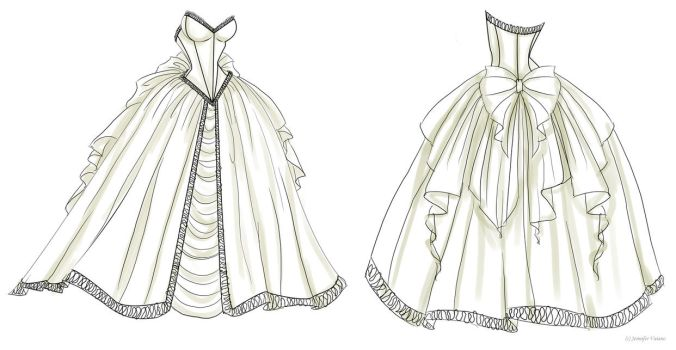 Wedding Dress Design 1 by NoFlutter