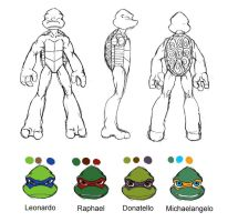 TMNT reference sheet by Lily-pily