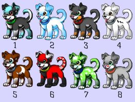 Cute Puppy Adoptables :CLOSED: by Okami-Heart