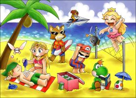Nintendo Beach by ChocolatePixel